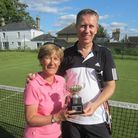 Deb Lench and Andrew Ketteridge, champions in the Castle Hill Tennis Club Veterans Tournament 2017.