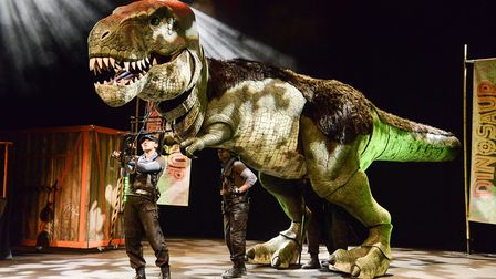Tyrannosaurus rex is among the stars of the Dinosaur World show coming to Letchworth's Broadway Thea