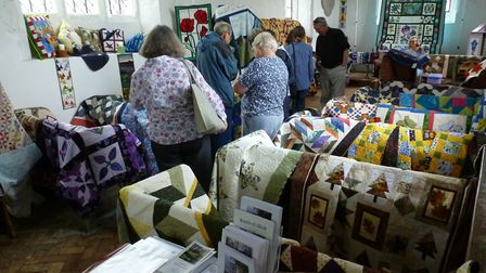 People went along to Caldecote's church to see patchwork quilts, wall hangings and more by the Ickni