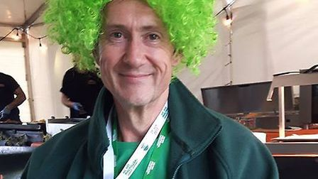 Trevor Broom shows off his medal from the Thames Path Mighty Hike for Macmillan Cancer Support. Pict