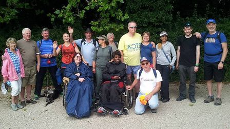The abolition group that pushed Clare Oakley and Ruth Green the 13.6 miles around the Letchworth Gre