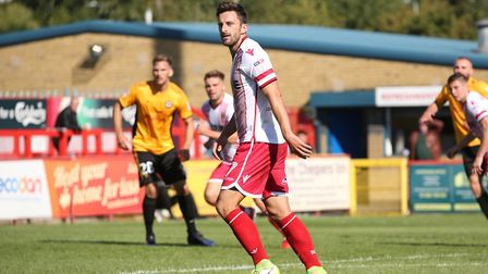 Chris Whelpdale had Stevenage's best chance at Millwall. Picture: DANNY LOO