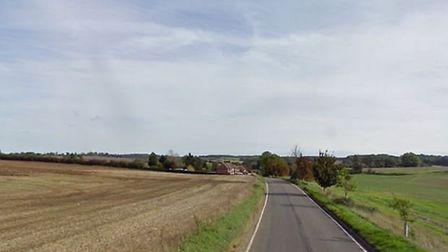 The B1037 Stevenage Road coming out of Walkern, near Stevenage, where the incident happened on Satur