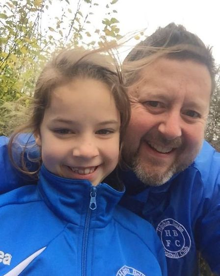 The Belles' hard-working coach Paul Dean and daughter Isobel