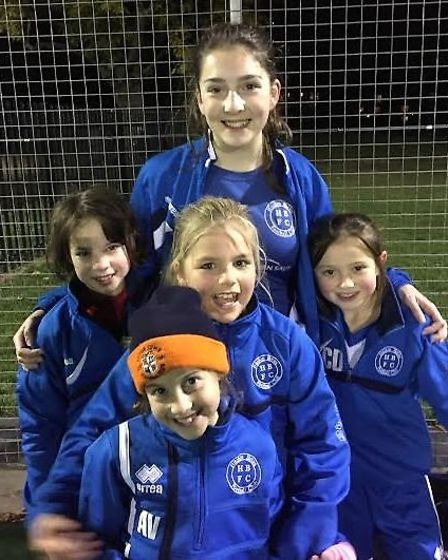 Training is always fun at Hitchin Belles FC