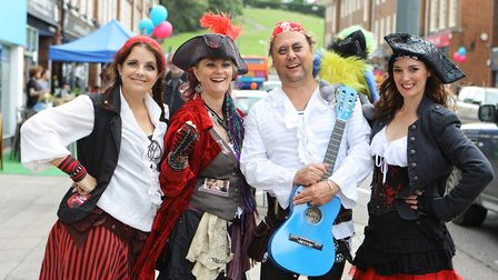 Hermitage Road Day 2017: Imajica Theatre entertain the crowds dressed as pirates. Picture: Karyn Had