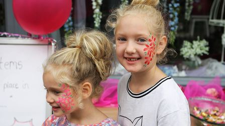 Hermitage Road Day 2017: Ruby Day, six, and Maisie Day, five, enjoy having their faces painted. Pict