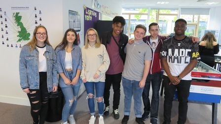 Marriotts pupils celebrating their great results.