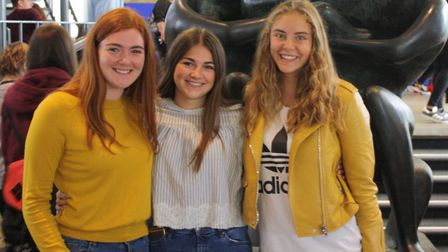 Barclay students Grace Cowan, Ella Dowden and Rosie Carter.
