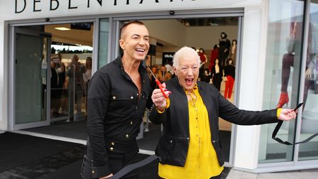 Debenhams store opening: Fashion designer Julien Macdonald officially opens the store with Jean Robi