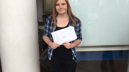 Sinead Comiskey, a level 2 health & social care student at North Hertfordshire College, achived a C