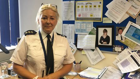 North Herts Chief Inspector Julie Wheatley in her office in Hitchin. Picture: JP Asher