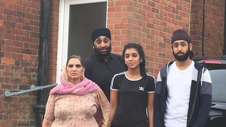 Hitchin care service manager Sukhi Rayat with his mother Krishna Rayat, 75, and his children Manmeet
