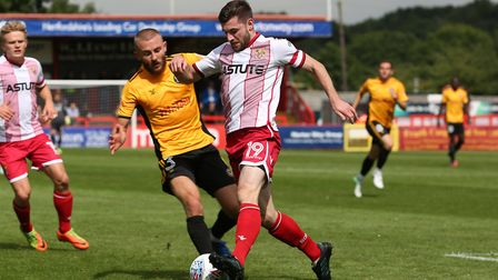 Danny Newton has scored two in two league games since joining Stevenage. Picture: DANNY LOO