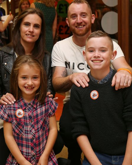 The Bright family, Samantha, Nick, Maisie, 6 and Josh, 12. Picture: Danny Loo