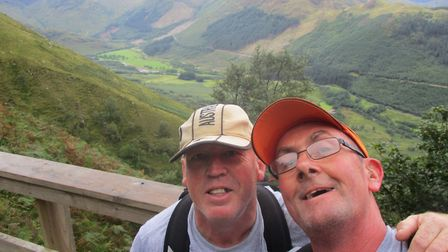 Steve and Pat scaled the Scottish peak to raise cash for the hospice where Aimee was cared for.