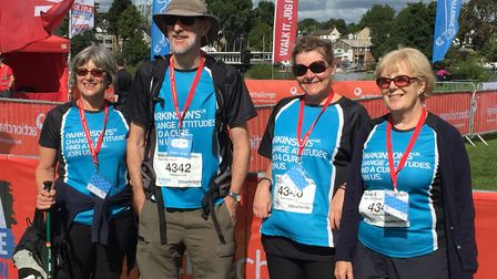 The City Chorus team at the start of their Parkinson's UK fundraising challenge. Picture: City Choru