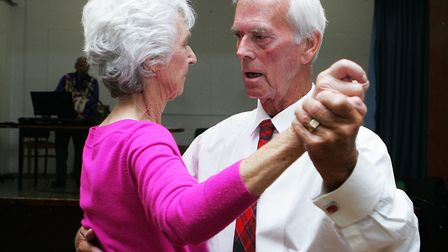 Patricia and Norman Drummond enjoy a dance. Picture: Karyn Haddon