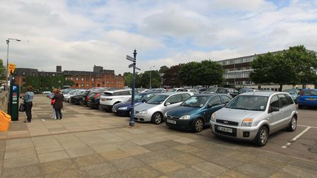 St Mary's Square car park in Hitchin. Picture: Harry Hubbard