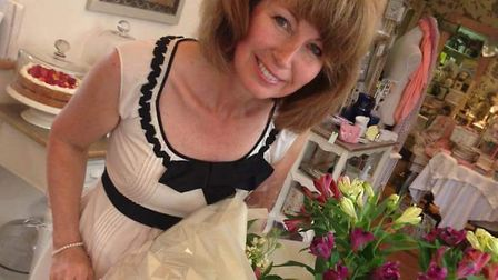 Sarah Parker, who runs the tearooms, celebrating its eighth anniversary. Picture: Catherine Lofthous