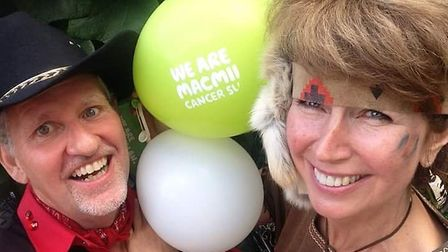 Sarah Parker and partner Nigel, dressed up for last year's fundraiser. Picture: Catherine Lofthouse