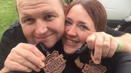 Anthony and Amanda Smith took part in the Mudnificent 7 last month. Picture: Amanda Smith.