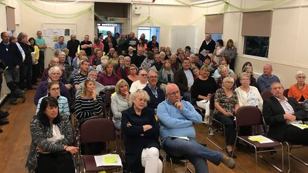 Villagers at Offley Parish Hall to discuss the proposed Gladman Homes development. Picture: Offley P