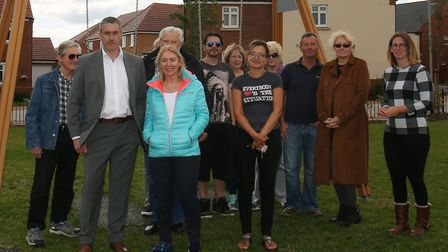 Mid Beds MP Nadine Dorries with concerned members of the Stondon Park Residents' Association. Pictur