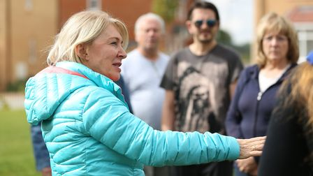 Mid Beds MP Nadine Dorries speaks to concerned members of the Stondon Park Residents' Association ab