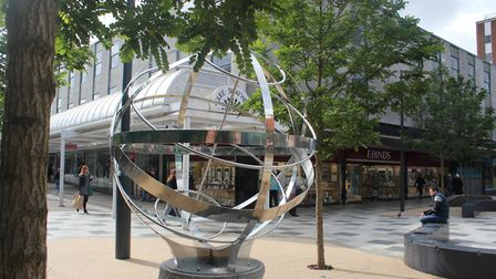 You will be able to learn the secrets behind this 'mystery' sculpture in the Stevenage Town Square a