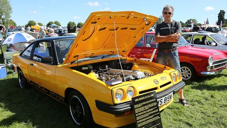 Clive Moss from Welwyn Garden City with his hand built Manta. Picture: Melissa Page.