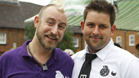 Balstock supremo G La Roche and committee member Shane Wilson at last year's festival. Photo: Karyn