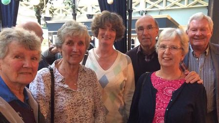 Sheila Mole, Mary Day, Coralie Ovenden, Tim Gray, Angela Gray and Colin Banyard. Picture: Hugo Richa