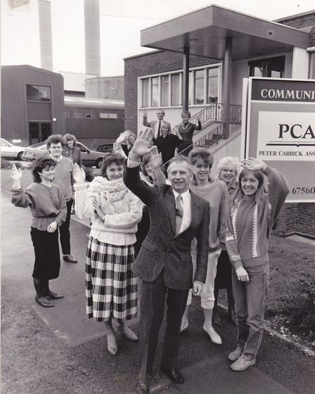 Peter Carrick outside his Letchworth premises with the PCA team. Picture: Carrick family