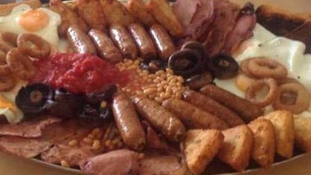 The Terminator Mega Breakfast now on offer at Arlesey's A Bite To Eat café. Picture: Steve Jordan