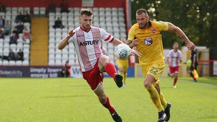 Danny Newton brings the ball forward. Picture: Danny Loo
