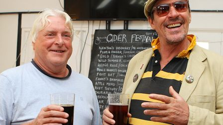 Garden City Brewery Cider Festival 2017: Quentin Williams and Richard Clare enjoy the Cider Festival