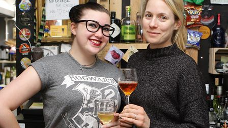 Garden City Brewery Cider Festival 2017: Scubi Forgie and Holly-Anne Rolfe.