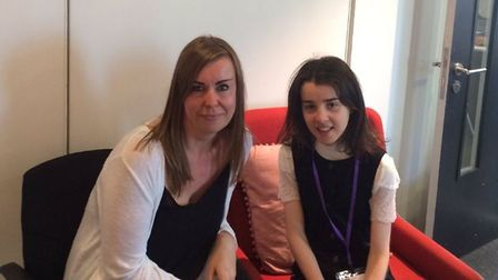 Advanced eating disorders practitioner, Penny Smith, with her patient, Lucy Priest.