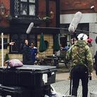 After filming of Doctor Foster in Hitchin locations such as Market Place, Humans is next up. Picture