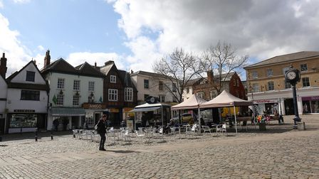 Hitchin's Market Place, where shooting for Channel 4's Humans is set to take place on Monday. Pictur