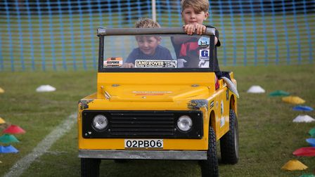 Leto, 5 and Finan Gunnery, 9 drive a 4x4 at Arlesey village fete. Picture: Danny Loo