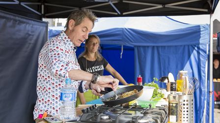 Celebrity chef Nigel Barden at the Hitchin Food & Drink Festival 2017. Picture: JAF Milligan
