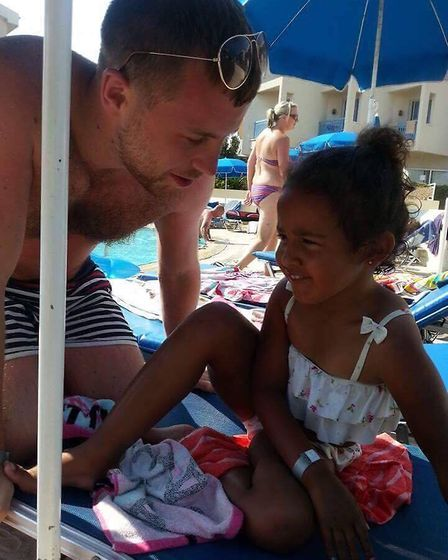 Bill Flavell with his niece Freya.