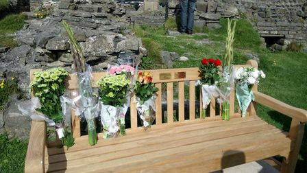 Billy Davies' family have installed a bench in his memory overlooking Aberystwyth Harbour. Picture: