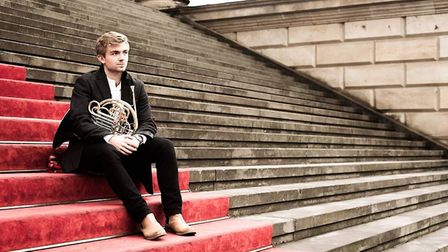 Ashwell horn player Ben Goldscheider, who now studies at the Barenboim-Said Academy in Berlin. Photo