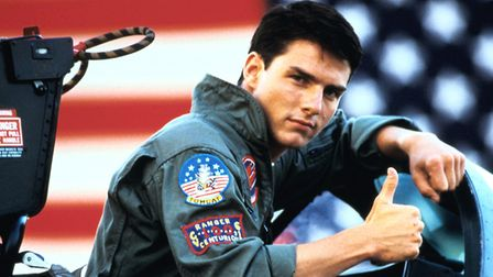 Tom Cruise as Maverick in 1986's Top Gun, which you can see in the open air in Letchworth later this