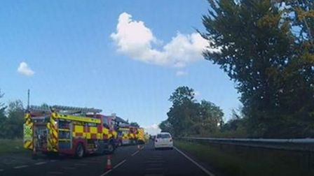 The crash happened on the A505 between Baldock and Royston, near the Litlington turning. Picture: Ge