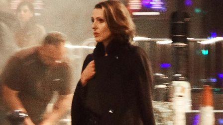 Suranne Jones as the title character in BBC One's Doctor Foster, during filming in Hitchin last year