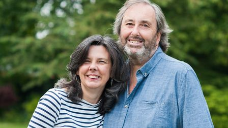 Royston author Helen Bailey with her fiancé Ian Stewart, who subsequently murdered her.